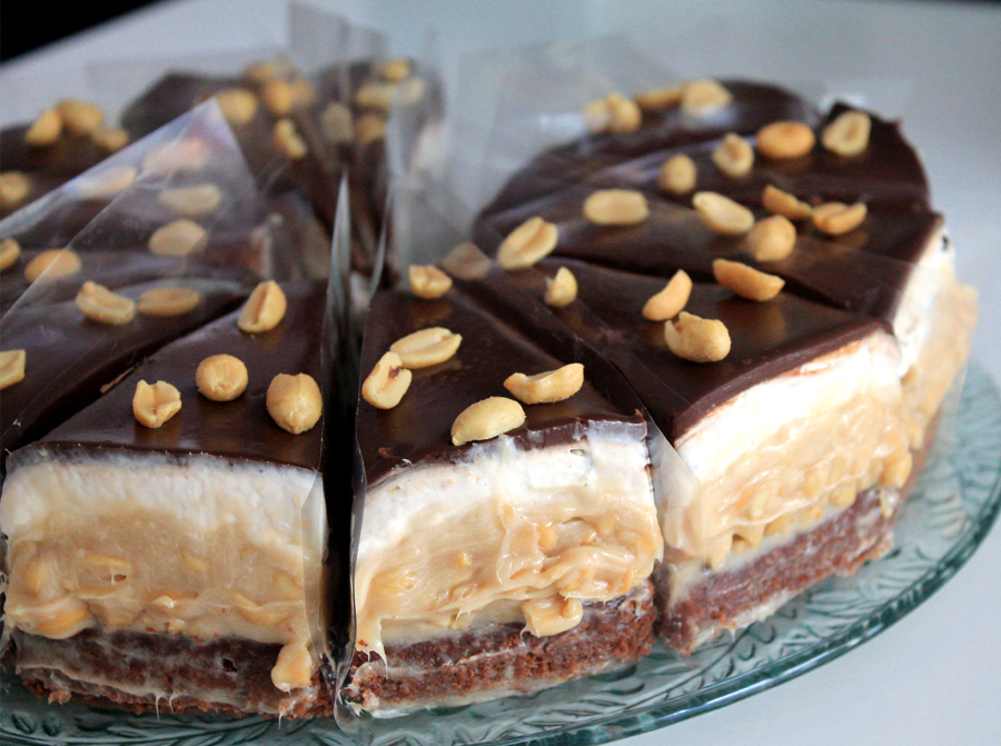 vegane snickers torte rezept